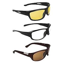 Zyaden COMBO of Night Vision Sunglasses - Combo - 1495
