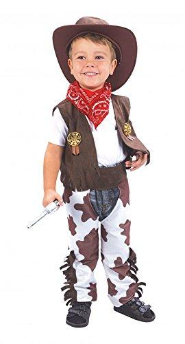 Cowboy Kostüm für Jungen Gr. 90-104 Kinderkostüm Western Kinder