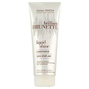 John Frieda Brilliant Brunette Soin Démêlant Liquid Shine Gloss Brillance Cheveux Châtains et Bruns 250 ml