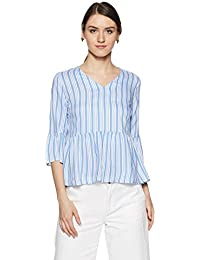 Symbol Amazon Brand Women's Striped Loose Fit Top