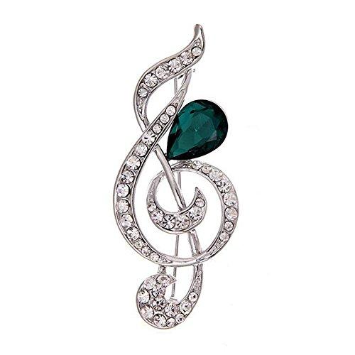 Eudola Broche, Symbole de La Musique Élégante Broche Accessoires de Ornée Exquis Bijoux Cadeau pour Les Fmmes Dame Filles Eudola
