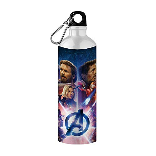 Giftix Personalized Avengers Endgame Print Metal Sipper Bottle for Kids , 750 ml (Multicolour)