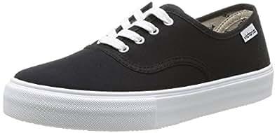 Victoria Ingles Lona, Sneakers Basses mixte adulte, Noir (10 Negro), 35 EU