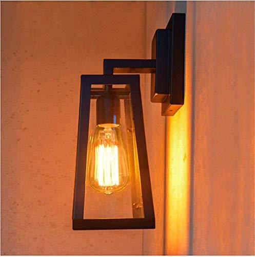 QSM Moderne minimalistische Innenwand-Leuchte, Tulpe Gla-Form-Wandlampe, Schlafzimmer-Wohnzimmer-dekorative Wandlampe, Durchmesser17Cm Wandlampe, Höhe 30Cm (ohne Glühlampe), Hintergrund-Wand-Beleucht -