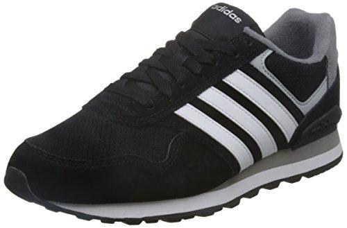 adidas Herren Runeo 10K Turnschuhe, Black (Negbas / Ftwbla / Plamat), 44 EU