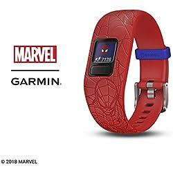 Garmin Vívofit Jr. 2 - Monitor de actividad para niños, Marvel Spider-Man - Red (Banda ajustable), Edad 6+
