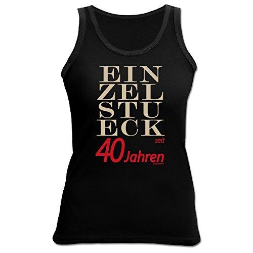 TankTop T-Shirt ::: Einzelstück seit 40 Jahren ::: zum Geburtstag Schwarz