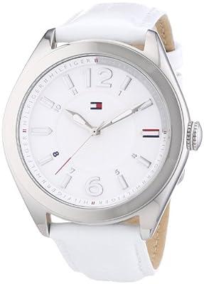 Tommy Hilfiger Watches 1781364 - Reloj analógico de cuarzo para mujer, correa de cuero color blanco