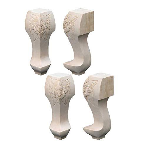 4 STÜCKE Holzmöbel Füße Schwere Möbel Beine Unfinished Brötchen Füße Für Kabinettsofa Ottoman TV Ständer Loveseat Kommode Holz Beine