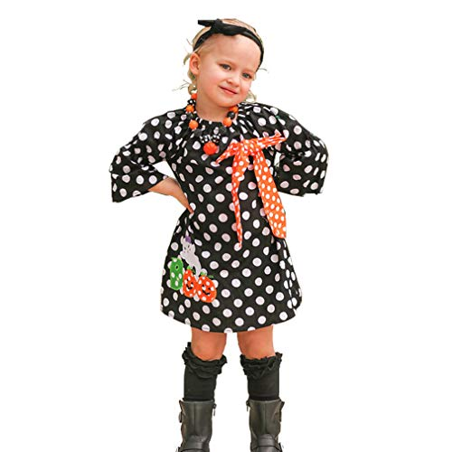 ider Halloween Kostüm Infant Kleinkind Kürbis Bogen Party Kleid (Orange 2-3T) ()