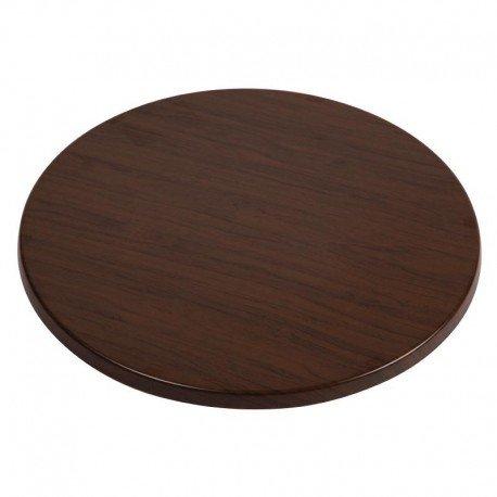 Werzalit Gastronomie Tischplatte Plus CL042Tisch rund TOP, 700mm, Italienisch Walnuss Effekt