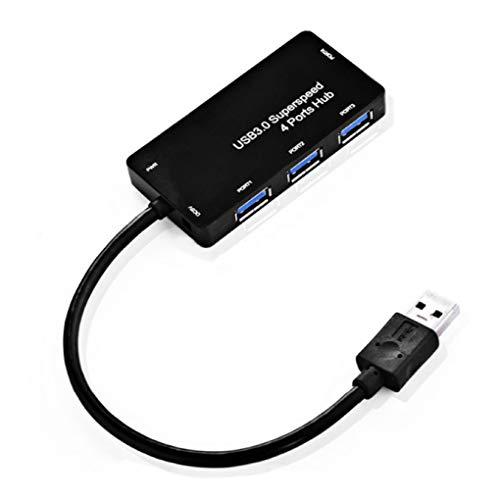 Sunlera 4 Port External USB Hub Tablet PC Computer Telefon Hochgeschwindigkeits-Lade Sync Datenübertragung Splitter -