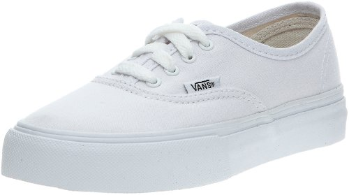 Vans T Authentic, Baskets mode mixte bébé Blanc (Twill & Gingham/Cornstalk/Black)