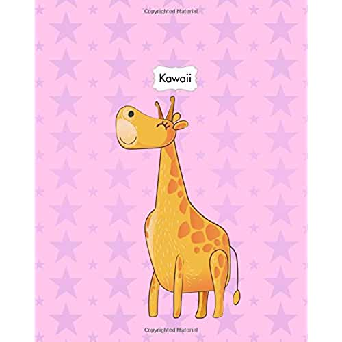 dia del libro kawaii Kawaii: Animals Cute Kawaii Sweet Notebook Stationery 8x10 Lined Journal Lion Elephant Kangaroo Giraffe: Volume 8 (Kawaii Cute Animals Sweet Pastel Color Notebook Journal Stationery Series)