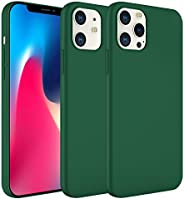 iPhone 12 Pro Case,iPhone 12 Cases Silicone Gel Shockproof Slim Hard Shell Soft Microfiber Liner Cushion Cover