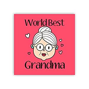 Yaya Cafe for Grandmother World Best Grandma Fridge Magnet - Square