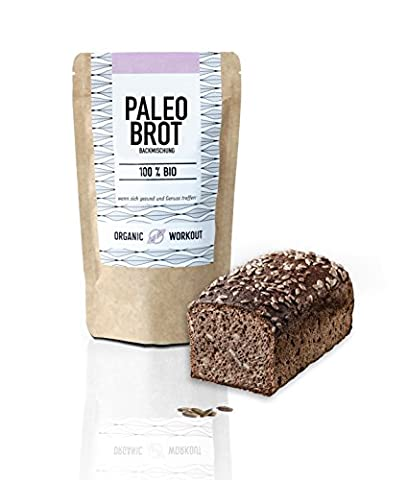 Organic Workout Paleo Brotbackmischung - 100% Bio, glutenfrei, low-carb, eiweissbrot