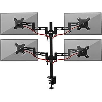 Duronic DM354 Monitorhalterung / Tischhalterung / Monitorarme / Monitorständer für LCD/LED Computer Bildschirme / Fernsehgeräte mit Neig und Rotierfunktion