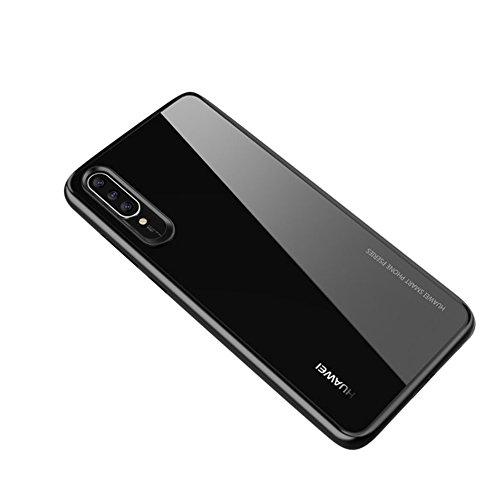 Huawei P20 Hülle, Schutzhülle TPU Bomper Anti-Lackierung + PMMA Anti-Kratzer Stoßfest Elegant und Modisch Handyhülle Transparent Handyhülle Crystal Clear für Huawei P20