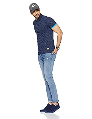 United Colors of Benetton Men's Printed Regular Fit Polo