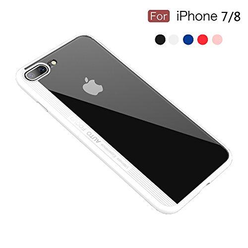 Ultradünne iPhone 8Fall/iPhone 7Fall-PC Rückseite und TPU Rahmen stoßfest Bumper Fall für 11,9cm Apple iPhone 8(2017Version)/iPhone 7(2016Version) von Talent, Weiß