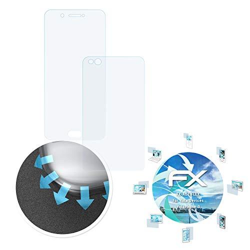atFolix Schutzfolie passend für Yota Devices YotaPhone 3 Folie, ultraklare und Flexible FX Displayschutzfolie (3er Set)
