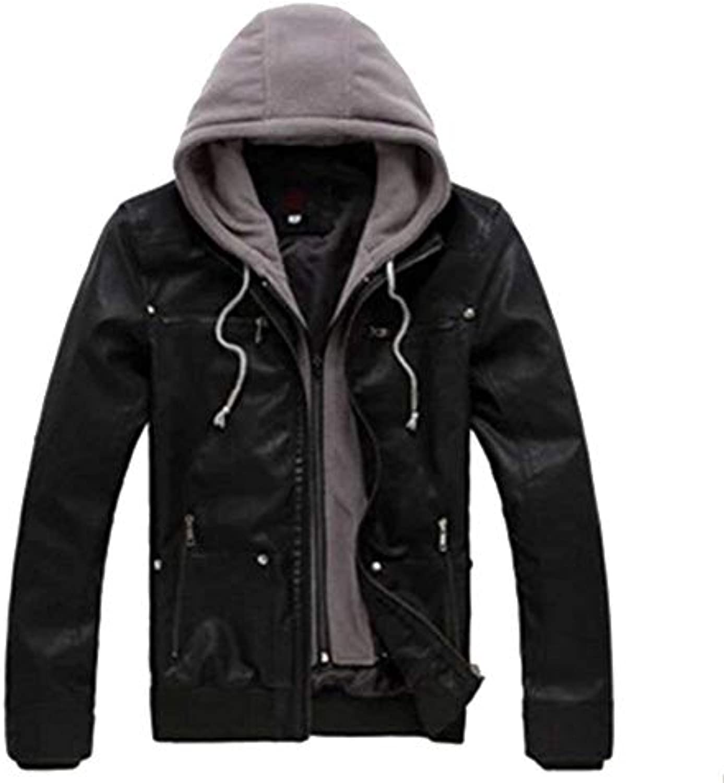HX fashion Uomo Giacca da Uomo fashion Pu Leather Biker Geteppt Slim Fit  Taglie Comode Cappotto per Il Tempo Libero Moderno... d924e2 f694dbd56d2