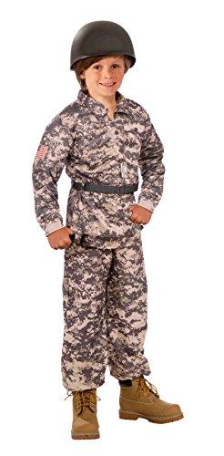 flage Army Child Costume Small (Soldier Kid Kostüme)