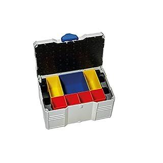 TANOS Mini-systainer T-Loc III für Kleinteile, mit Boxeneinsatz, 8-fach, lightgrau/blau