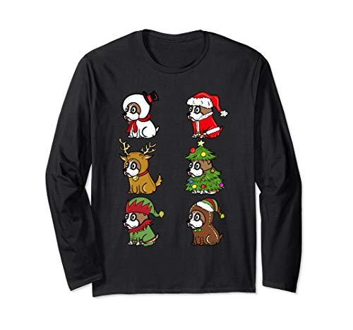 Boxer Lustige Kostüm Hunde - Boxer Xmas Kostüme Lustiger Hund Weihnachten Geschenk  Langarmshirt