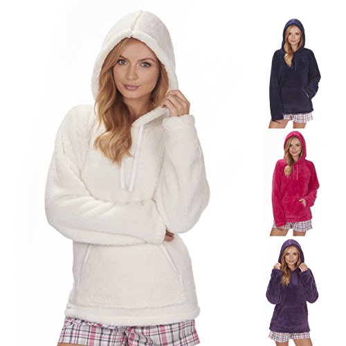 Forever Dreaming - Women's Fleece Snuggle Top (Sizes S-XL) Super Soft Hooded Lounge Bed Jacket - 41USUK544pL - Forever Dreaming – Women's Fleece Snuggle Top (Sizes S-XL) Super Soft Hooded Lounge Bed Jacket
