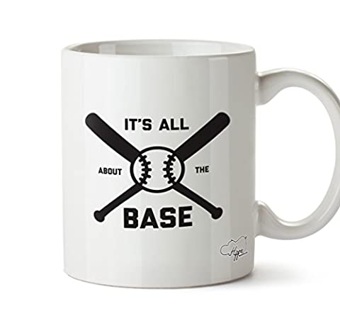 Hippowarehouse It's All About the Base Baseball 283,5 gram Mug Cup,