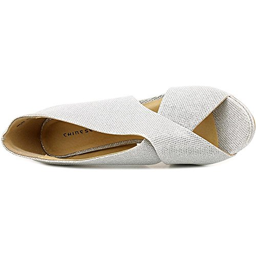 Chinese Laundry Bright Sun Damen Synthetik Stöckelschuhe Silver