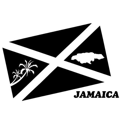 Wadeco Jamaica Flagge Wandtattoo Wandsticker Wandaufkleber 35 Farben verschiedene Größen, 71cm x 47cm, haselnussbraun