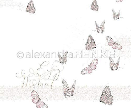 One-sided Scrapbook-Papier (1ks) Butterfly Genießen Sie Jeden Augenblick, 30 30 Natur -, Papier -, Druck -, Scrapbooking -