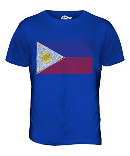CandyMix Philippinen Kritzelte Flagge Herren T Shirt Königsblau