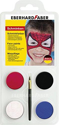 nkset Spiderman, 1er Pack (1 x 6 Stück) (Media-make-up Halloween)