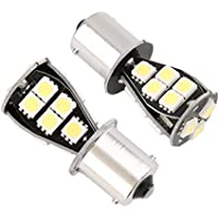 2x Lampadina LED BAU15s, Pin In angulo) 1156P21W Canbus 18Led Smd 5050Bianco marcia indietro Posicion (Kit Luce Freno Kit)