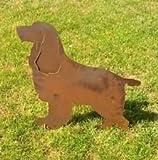 Hund,Garten Figuren,Eisen Gartendeko Edelrost Metall Gartenstecker Tier Deko