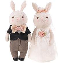 Good Night Vestido de Novia de los Amantes del Conejo de tiramisú Juguete de Peluche Conejo