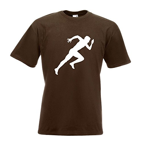 KIWISTAR - Läufer Marathon Sprint T-Shirt in 15 verschiedenen Farben - Herren Funshirt bedruckt Design Sprüche Spruch Motive Oberteil Baumwolle Print Größe S M L XL XXL Chocolate