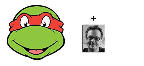 Raphael Teenage Mutant Ninja Turtles Karte Partei Gesichtsmasken (Maske) - Enthält 6X4 (15X10Cm) starfoto