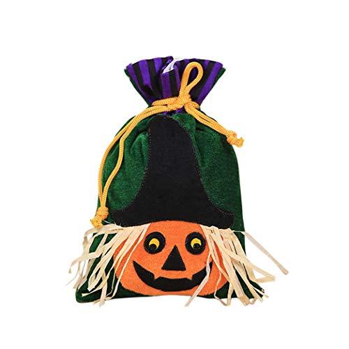(Halloween Party flauschig, diadia Süßigkeiten Taschen für Baby Dusche Hochzeit Party Favor, Geschenk, Schmuck, Candy, Tote Taschen für Kinder Festival kürbis)