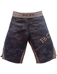 "'""Bones Fight > Fight Short, MMA Short, BJJ, MMA Pantalones Cortos, Freefight–Pantalones cortos, diseño de camuflaje, color Khaki/camouflage/grün, tamaño M"