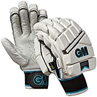 Gunn & Moore Diamond Guantes de bateo Originales, Unisex Adulto, Color White/Silver/Black/Blue, tamaño Large Adult LH