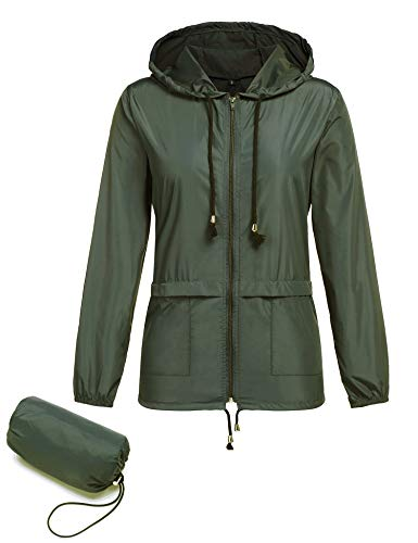 Regenjacke Damen Packaway Leichte Wind Sommer Zip Windbreaker Outdoor Funktionsjacke Softshell Jacke Windbreaker