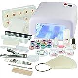 N&BF Starter Set di gel UV salone per manicure bianco – Set unghie – Per principianti