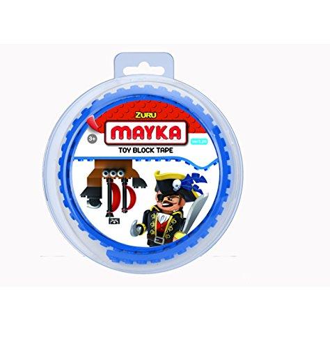 Mayka 34632, Lego Klebeband, 2 Studs, Blau, Small 1 m (Loop-stud)