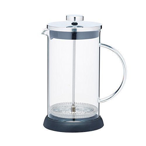 Kitchen Craft 1 Liter Glas/Edelstahl Le 'Xpress Cafetiere Kaffeebereiter, transparent