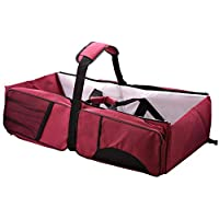 Foldable Portable 2 in1 Crib Bassinet Travel Nursery Bed Diaper Bag Baby Infant